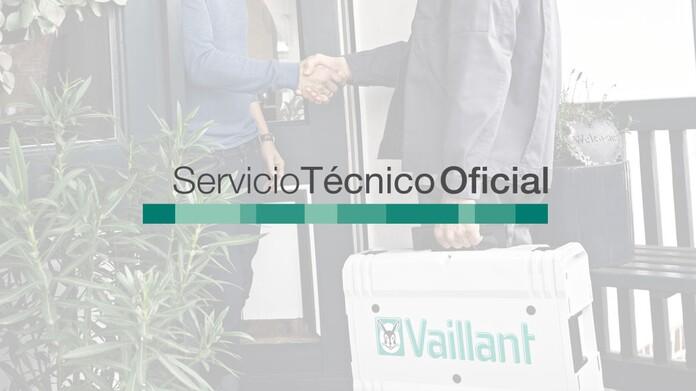 Detalle de apretón de manos entre técnico Vaillant y cliente en la entrada de una casa