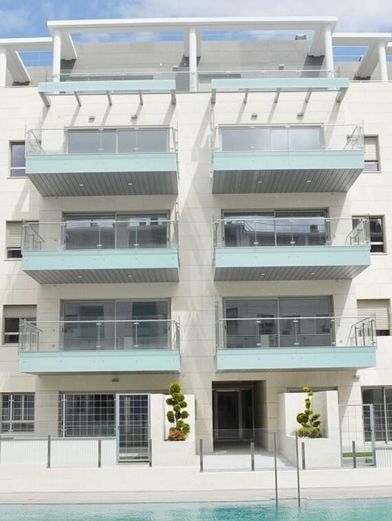 Fachada del bloque de viviendas