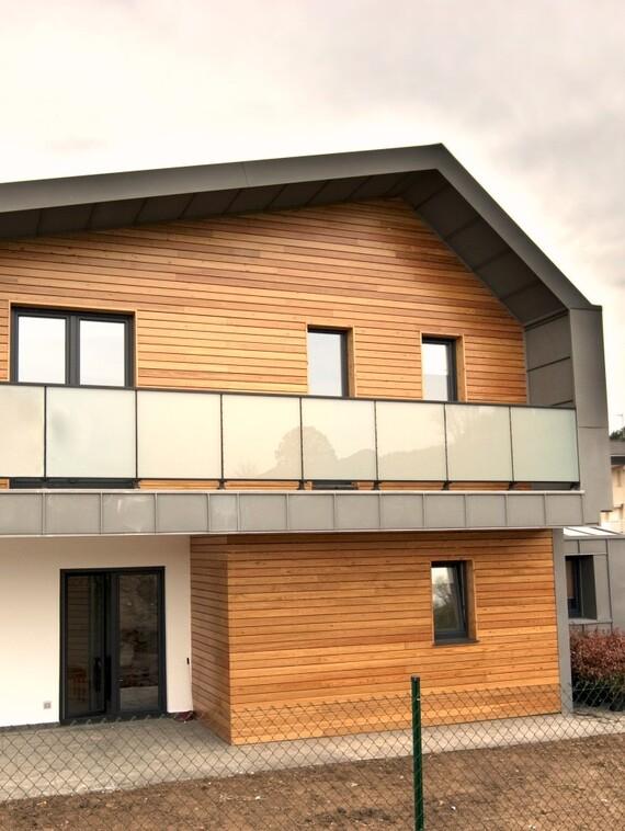 Exterior de la vivienda de bajo consumo energético
