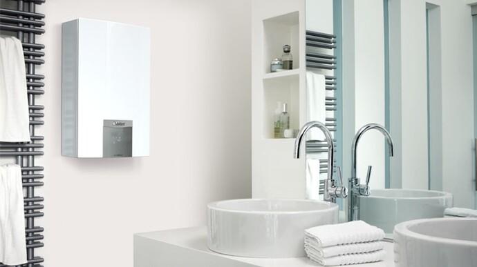Calentador turboMAG plus en cuarto de baño
