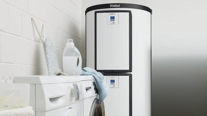Depósito multienergía allSTOR en el cuarto de la lavadora de una casa