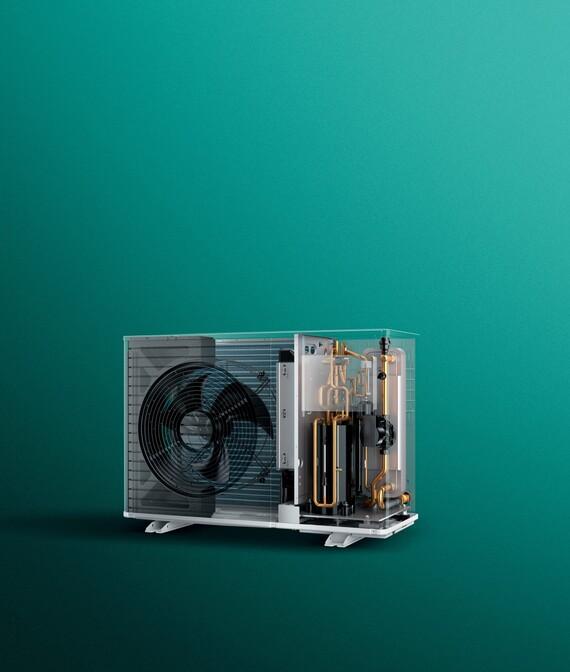 Imagen del interior de una bomba de calor aroTHERM plus